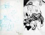 Art Adams Townsend heroes inks by TimTownsend