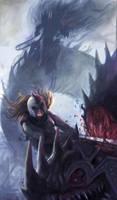 Eowyn vs the Nazgul by Venishi