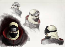 Kakuzu Sketches by LunarMaddness