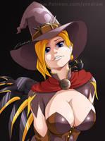 Overwatch: Mercy witch by erodraw