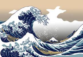 The Great Wave off Kanagawa WP by painfullyxuncool