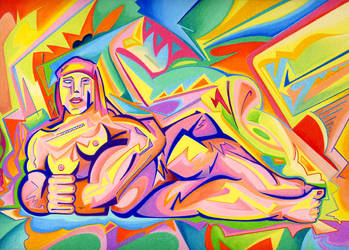 Reclining Nude 1917 v. 2 by archambers