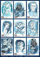 Star Wars Galaxy 7 sketchcards by PatrickSchoenmaker
