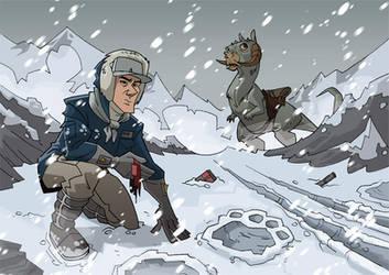 Han looking for Luke on Hoth by PatrickSchoenmaker