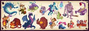 Dungan Character Designs 1 by PatrickSchoenmaker