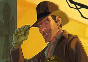 The Man in the Hat detail by PatrickSchoenmaker