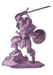 Barbarian Sketch by PatrickSchoenmaker