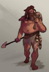 Neanderthal Man by PatrickSchoenmaker