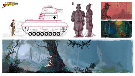 Indiana Jones Animated Concept - 03 by PatrickSchoenmaker