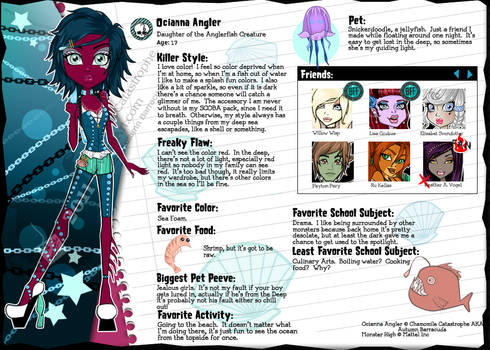 Monster High OC:Ocianna Angler by MsChamomile