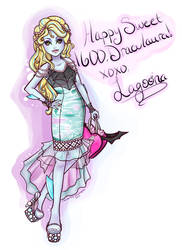 Happy B-Day Ghoulfriend! : Sweet 1600 Lagoona Blue by MsChamomile