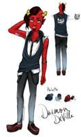 DeVillish : Daemon Deville Redesign by MsChamomile