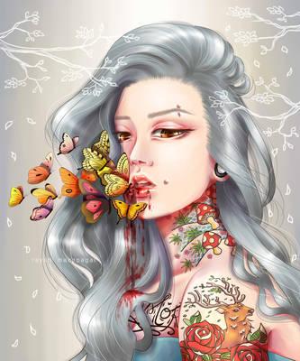 Feeding Butterflies by rae-shi