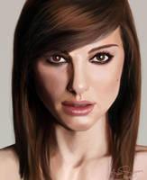 Digital Painting: Natalie Portman by skARTistic