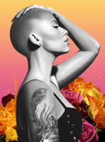 Digital Painting: Amber Rose by skARTistic