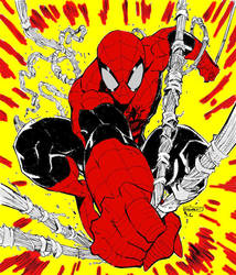 Spider Man colored art by Ryan Stegman by andrew-comer