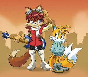 Tails and Fiona FLCL Color by Chauvels