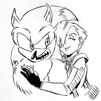 Inktober 05.2 - Weresonic and Madonna by Chauvels