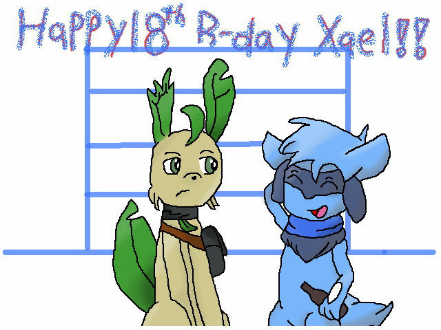 The adult riolu / Late Xael's B-day gift by tailsodinson