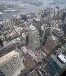Aerial view of Sydney CBD by Backflipboy