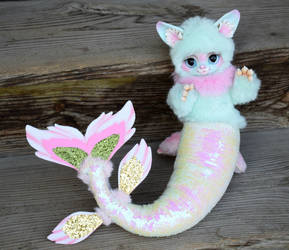kitty-mermaid by GayGaal