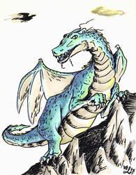 Blue dragon by by-Atx