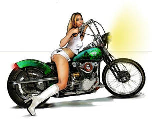 Sexy Greenbike_gurl by moffatD