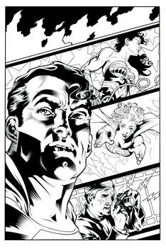 SUPERMAN 80 PAGE GIANT #2 COVER ~ RECREATION by Ray-Snyder
