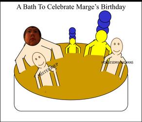 A bath to celebrate Marge's birthday by LeesaaSlipsun