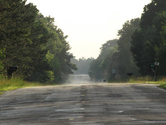 Hot road, cold rain, Road by Vierrick