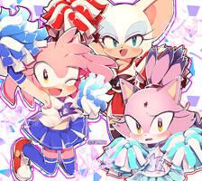 Sega Sonic Girls by 43719