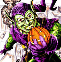 Green Goblin Attacks by Barnlord