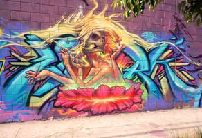 SkullGirl Graffiti by thezork