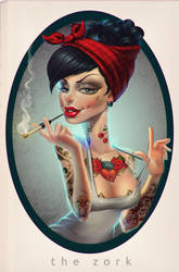 that tattoed girl by thezork