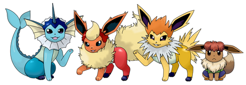 The Eevee Brothers by Flareon-The-Flareon