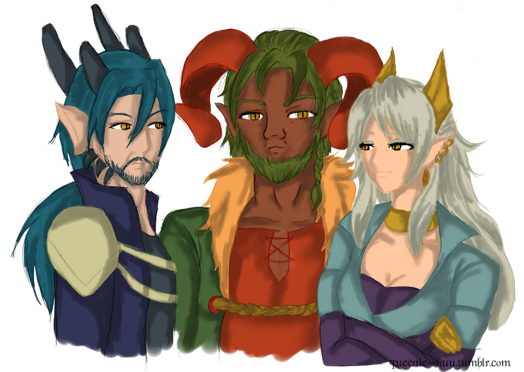 The three beasts by x-Dragonqueen-x