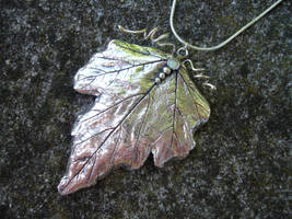 Silver Leaf Pendant by silverclay