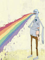 coughing up a rainbow by elephantseed