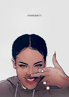 Rihanna by shkelqimart