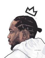 Kendrick Lamar by shkelqimart