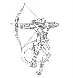 Archer 2nd lineart by TargonRedDragon