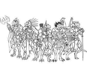 Lineart 02 :latest fanart: by TargonRedDragon