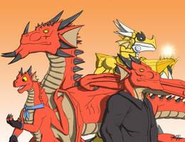 Four Dragonsonas by TargonRedDragon