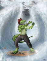 Commission: Waves throughout Lands by TargonRedDragon