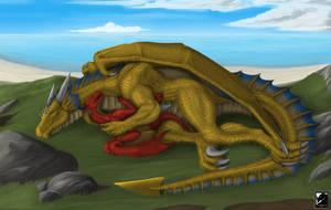 Commission: Tender Resting Time by TargonRedDragon