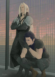 Sephiroth and Zack by roxcrosser