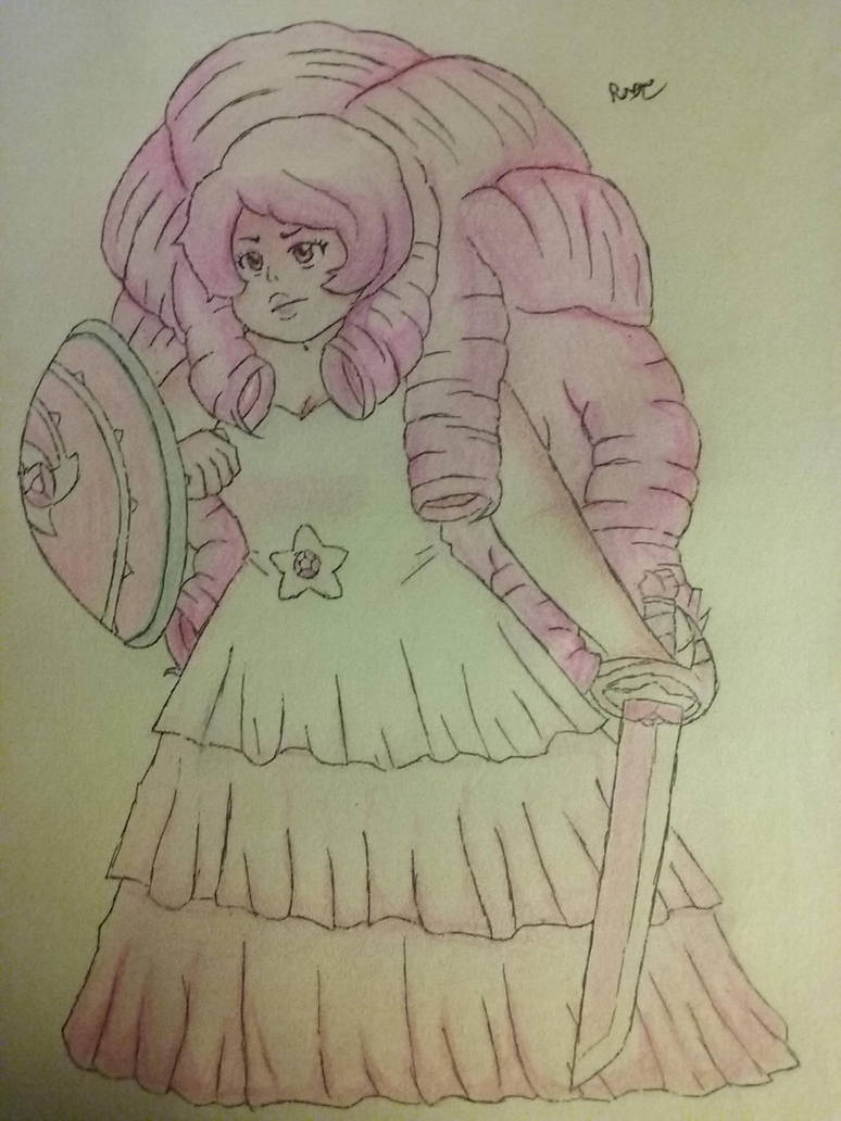 Rose Quartz the Protector (Traditional) by enchanted-dreame