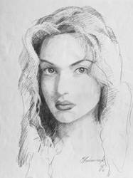 Kate Winslet pencil portrait by MichalBednarczyk