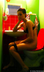 Pin Up Model Takes a Pee by immanuel