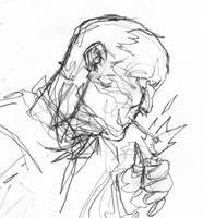 comics pencils - bad guy by mmacklin